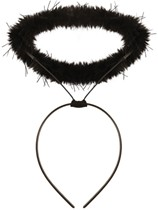 Halloween Fancy Dress Black Angel Halo Headband