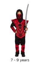 Children's Ninja Fancy Dress Costume 7 - 9 years