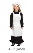 Children's Victorian Girl Fancy Dress Costume 4 - 6 yrs