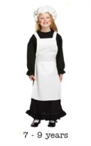 Children's Victorian Girl Fancy Dress Costume 7 - 9 yrs