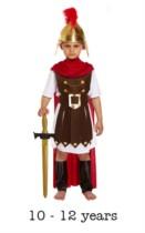 Child Roman General Fancy Dress Costume 10 - 12 yrs