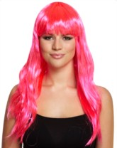 Long Bright Pink Wig