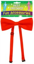 Red Bow Tie Fancy Dress Accessory