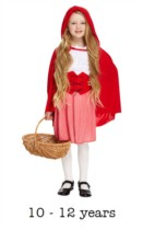 Children's Red Riding Hood Book Day Fancy Dress Costume 10 - 12 yrs
