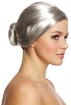 Grey Bun Wig
