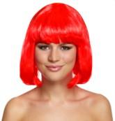 Bright Red Bob Wig