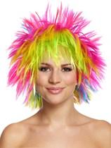 Spiky Rainbow Punk Wig