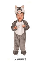 Child Wolf Fancy Dress Costume - Toddler
