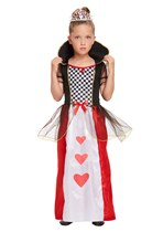Children's Queen Of Hearts Costume Ages 4 -12 yrs