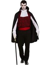 Adult Halloween Vampire Fancy Dress Costume