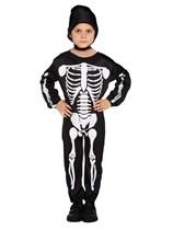Children's Halloween Skeleton Fancy Dress Costume Ages 4 - 12
