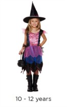 Children's Halloween Purple Witch Costume 10 - 12 years