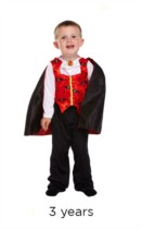 Halloween Little Vampire Fancy Dress Costume - Toddler