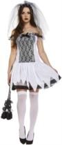 Adult Halloween Zombie Bride Fancy Dress Costume