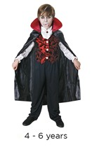 Child Halloween Deluxe Count Dracula Fancy Dress Costume 4 - 6 years