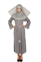 Adult Halloween Nun Sister Fancy Dress Costume