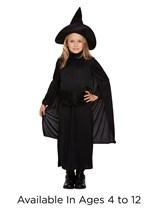 Children's Halloween Classic Witch Fancy Dress Costume