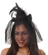 Black Mini Witch Hat Headband