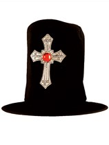 Adult Halloween Fancy Dress Vampire Hat with Cross