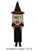 Children's Halloween Jumbo Witch Fancy Dress Costume