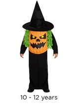 Child Halloween Jumbo Pumpkin Fancy Dress Costume 10 - 12 yrs