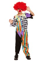 Children's Halloween Clown Costume Ages 4 - 12