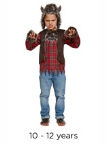 Child Halloween Werewolf Fancy Dress Costume 10 - 12 yrs