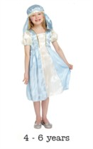 Child Mary Christmas Nativity Fancy Dress Costume 4 - 6 yrs