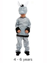 Child Donkey Christmas Nativity Fancy Dress Costume 4 - 6 yrs