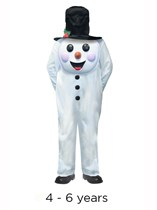 Child Jumbo Christmas Snowman Costume 4 - 6 yrs