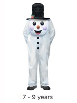 Child Jumbo Christmas Snowman Costume 7 - 9 yrs