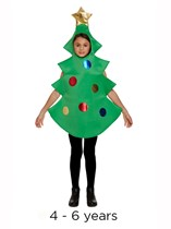 Child Christmas Tree Fancy Dress Costume 4 - 6 yrs