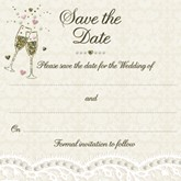 Lace & Champagne Save the Date Cards & Envelopes 10pk