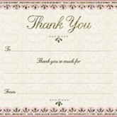 Pink & Gold Wedding Thank You Cards & Envelopes 10pk
