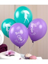 Showered with Love Baby Shower Latex Balloons 8pk