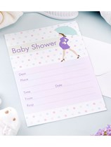 Showered with Love Baby Shower Invitations & Envelopes 10pk