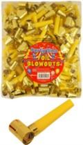 Party Favour Gold Foil Blowouts 144pk