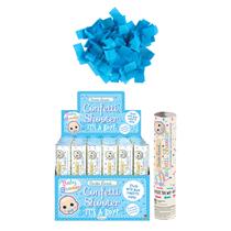 Gender Reveal 20cm Blue Confetti Shooter 24 Pack