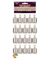 Silver Party Poppers 20pk