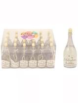 Wedding Champagne Bottle Bubbles 24pk - Gold
