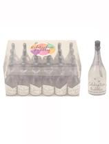 Wedding Champagne Bottle Bubbles 24pk - Silver