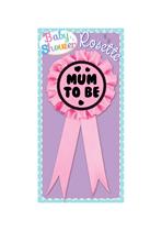 Baby Shower Mum To Be Pink Rosette