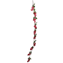 Red Berry and Holly Leaves Garland 3ft (91cm)