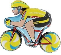 Yellow Tour De France Yorkshire Bike Foil Balloon