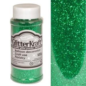 Glitter Kraft Emerald Green Powder 100g