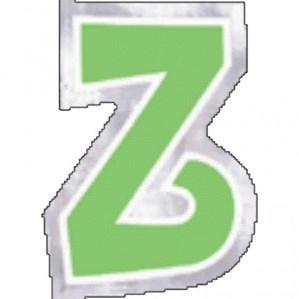 Letter Z Balloon Stickers 48pk