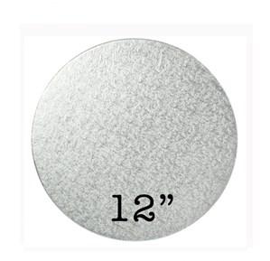"""Round Silver Cake Drum 12"""""""