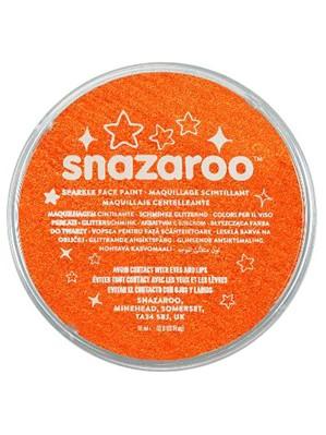 Snazaroo Face Paint Sparkle Metallic Orange 18ml pot