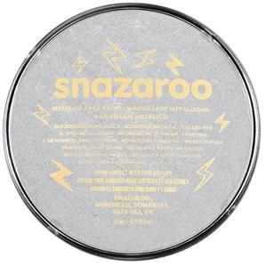 Snazaroo Face Paint Metallic Silver 18ml pot