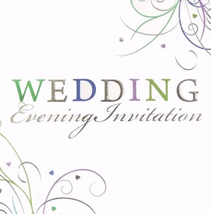 Wedding Evening Invitations Swirl 6pk